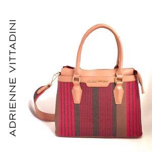 Adrienne Vittadini Structured Striped Tote Handbag